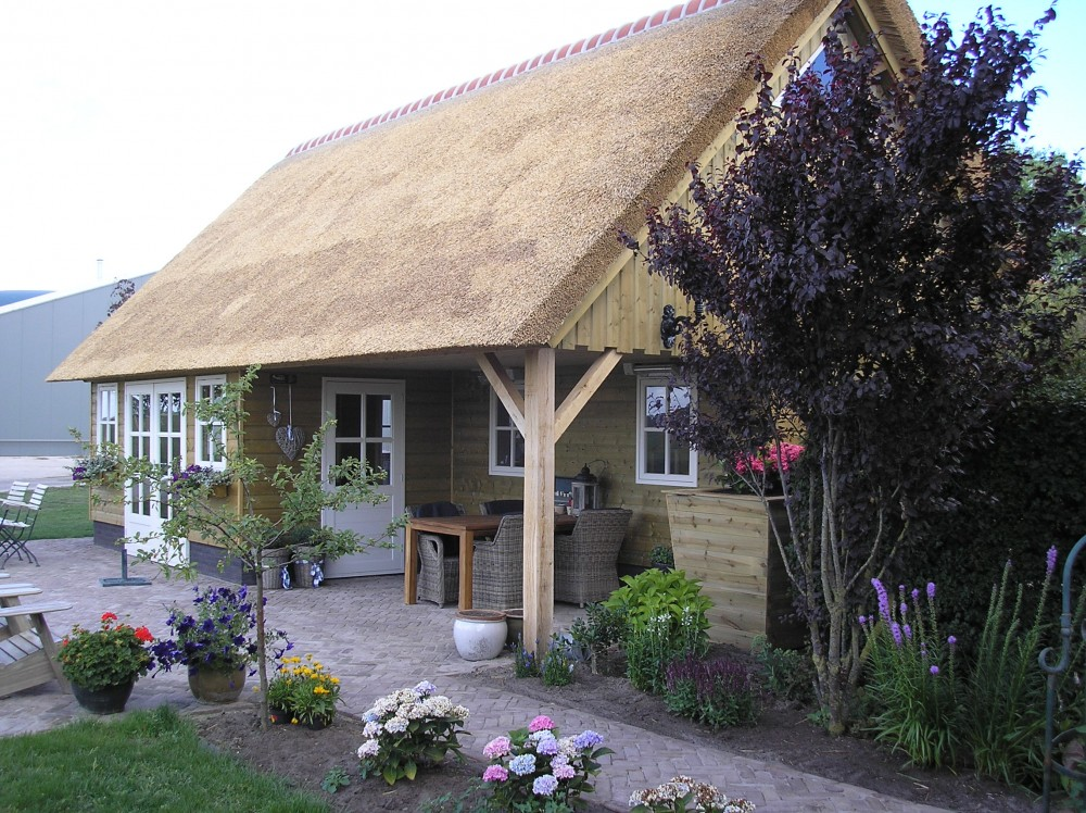 Houten tuinhuisjes Friesland - Bouwservice Veenwouden